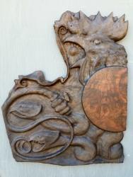 """Abraxas - 25""""x21""""x1"""" - reclaimed walnut burl - $2,500"""