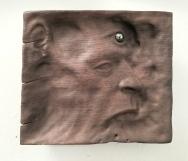 "Not yet titled - 10""x11""x2"" - reclaimed mahogany + hematite - $650"