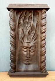 """Madre Ayahuasca Shrine - 23""""x12.5""""x3"""" - reclaimed mahogany - $2500"""