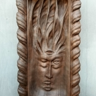 "Madre Ayahuasca Shrine - 23""x12.5""x3"" - reclaimed mahogany - $2500"