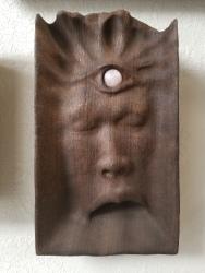 "Not yet titled - 10""x6""x2"" - reclaimed mahogany + rose quartz - $350"