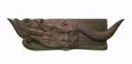 "Taur Song - 8""x31""x1.5"" - reclaimed mahogany - $1500"