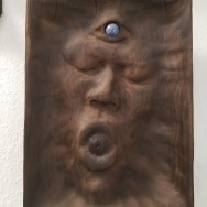 "Not yet titled - 12""x9""x2"" - reclaimed poplar + sodalite - $700"