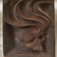 "Not yet titled - 9.5""x8.5""x2"" - reclaimed mahogany- $500"